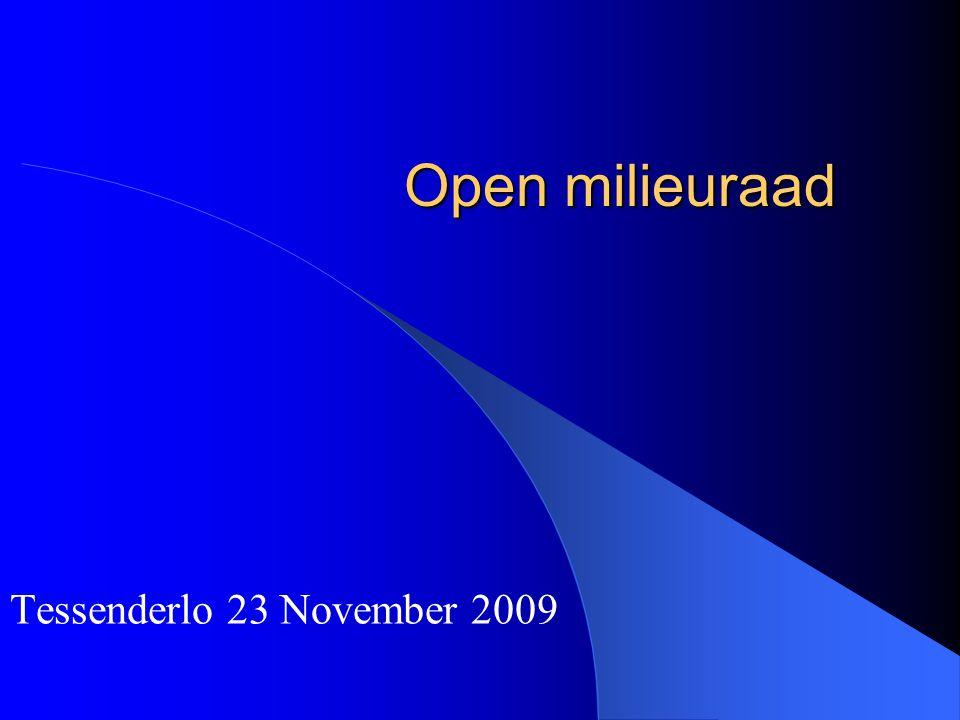 Open milieuraad Tessenderlo 23 November 2009