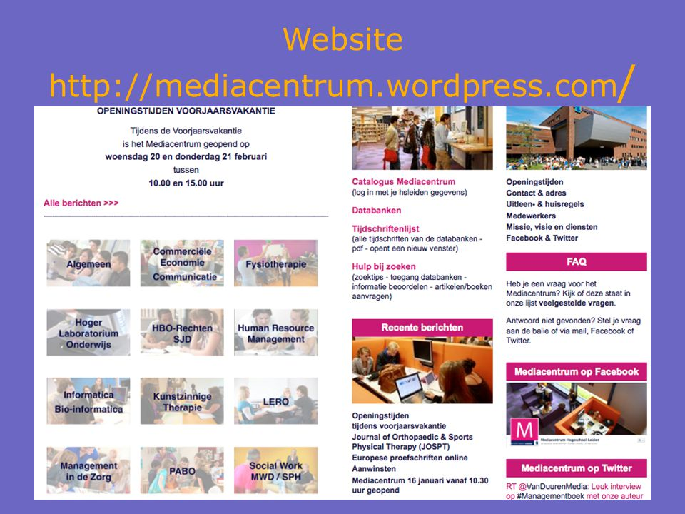 Website http://mediacentrum.wordpress.com /