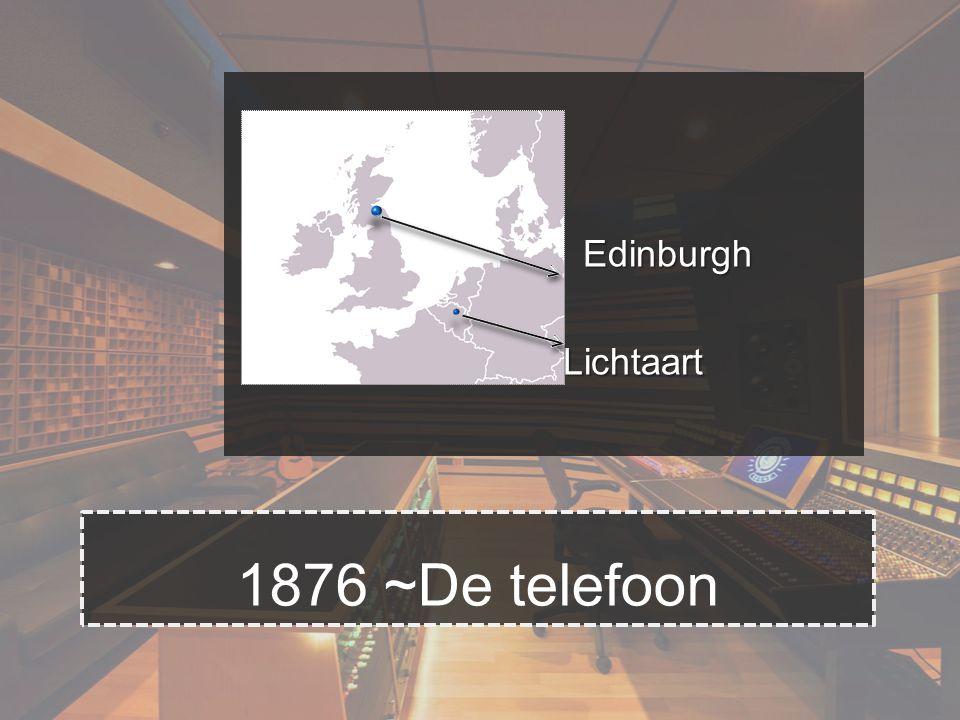   Edinburgh  Lichtaart 1876 ~De telefoon