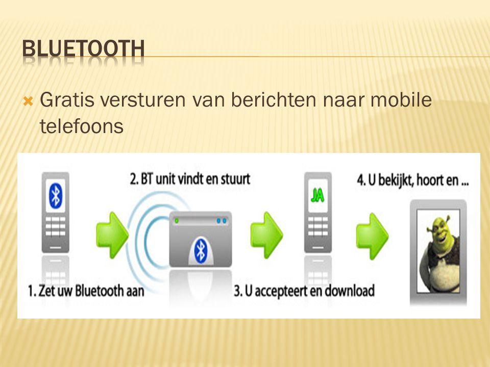  Gratis versturen van berichten naar mobile telefoons