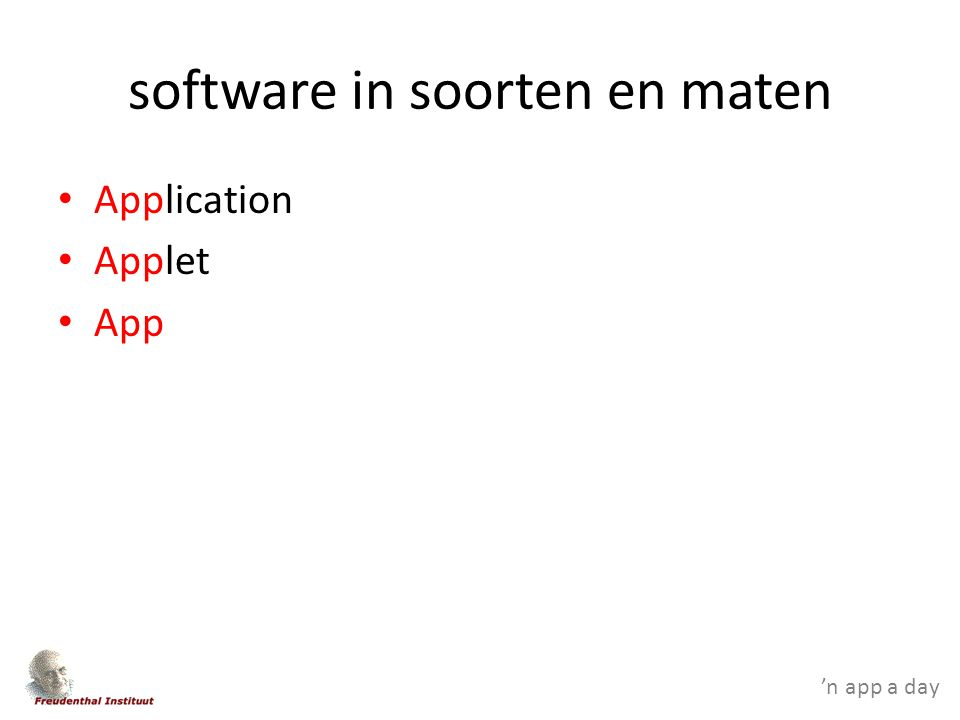 'n app a day software in soorten en maten Application Applet App