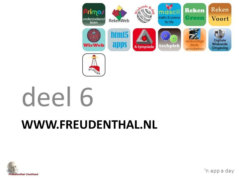 WWW.FREUDENTHAL.NL deel 6