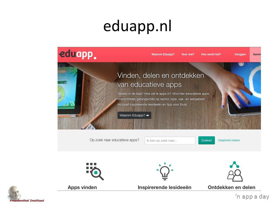 'n app a day eduapp.nl