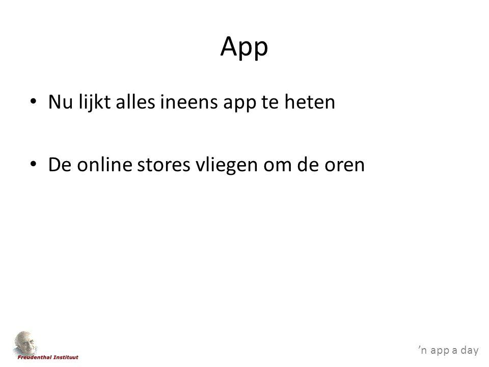 'n app a day App Nu lijkt alles ineens app te heten De online stores vliegen om de oren