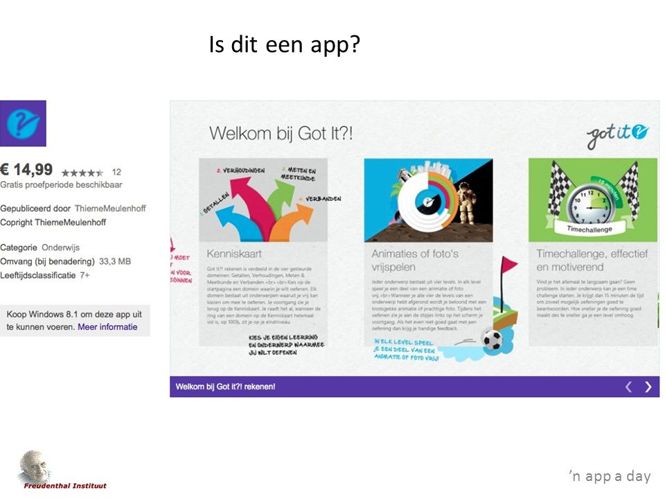 'n app a day Is dit een app?