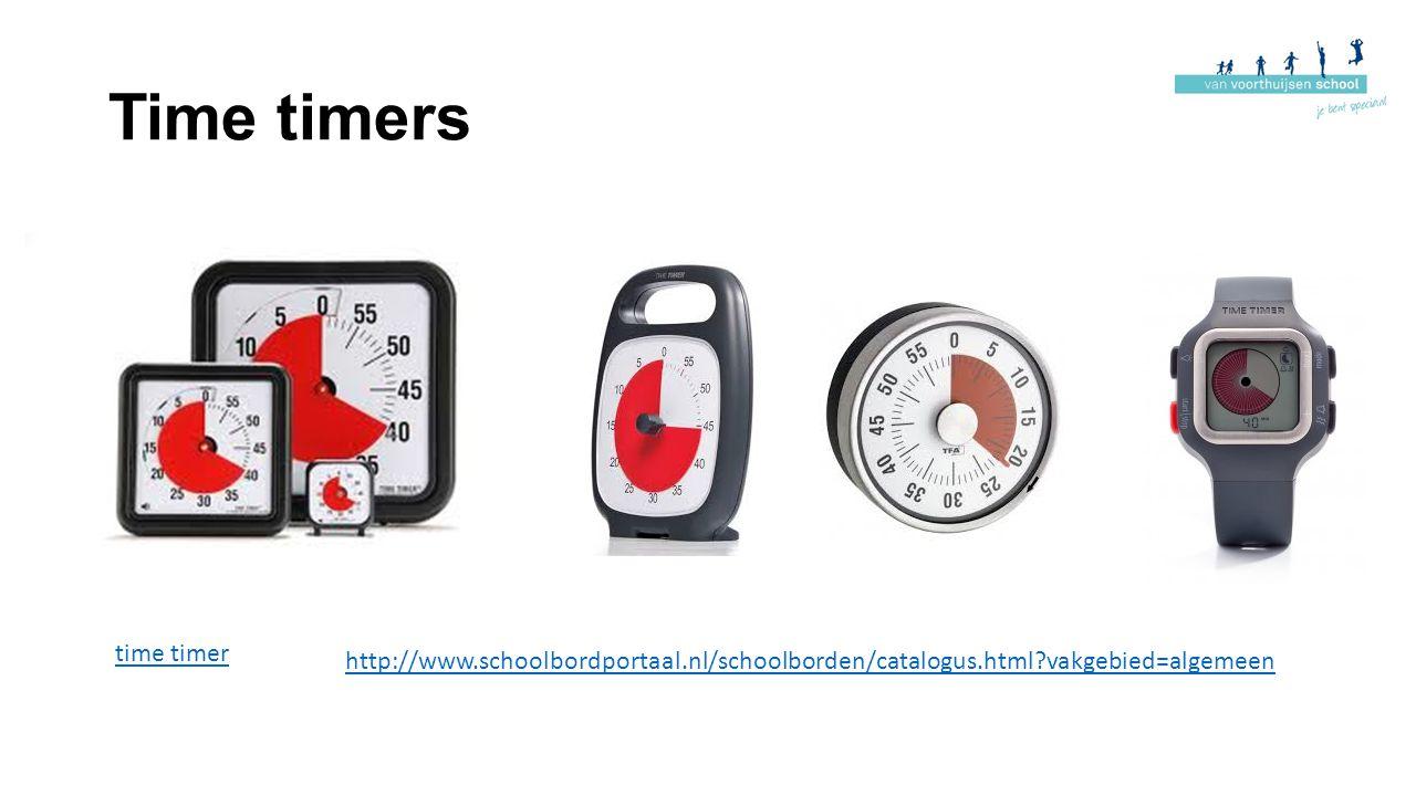 Time timers time timer http://www.schoolbordportaal.nl/schoolborden/catalogus.html?vakgebied=algemeen