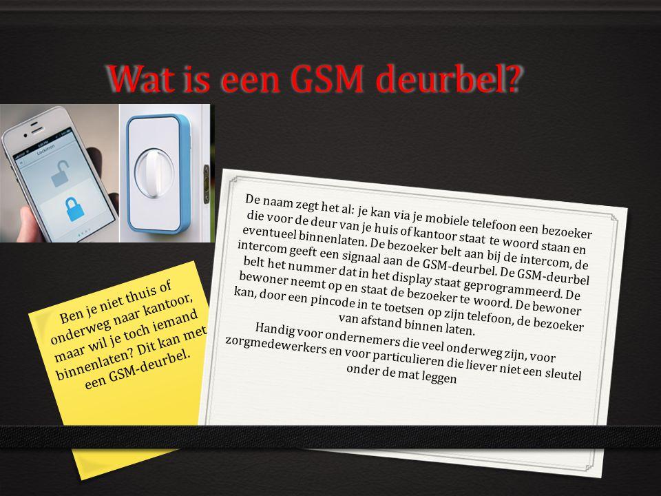 Wat is een GSM deurbel? De naam zegt het al: je kan via je mobiele telefoon een bezoeker die voor de deur van je huis of kantoor staat te woord staan
