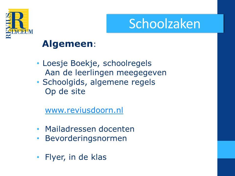 Zorg Op de site van school info en documenten onder tab ouders , links in de kolommen.