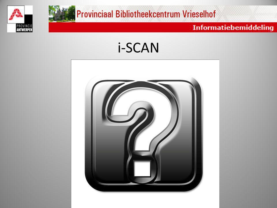 i-SCAN Wat leert de i-scan?