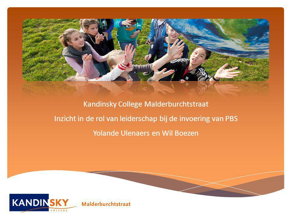 Kandinsky College Malderburchtstraat Inzicht in de rol van leiderschap bij de invoering van PBS Yolande Ulenaers en Wil Boezen