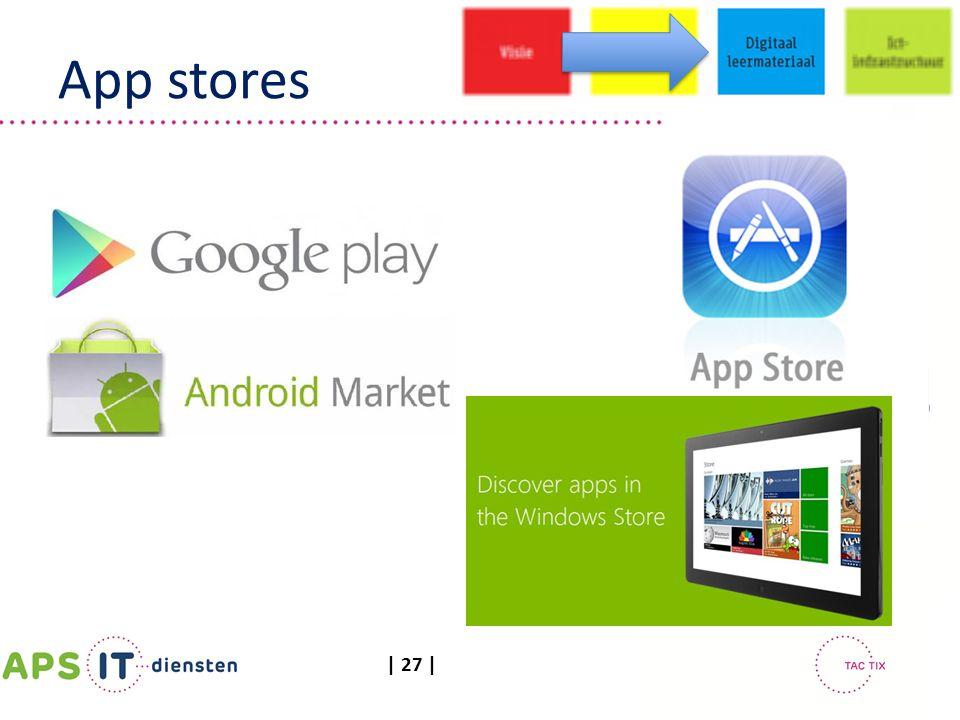 | 27 | App stores