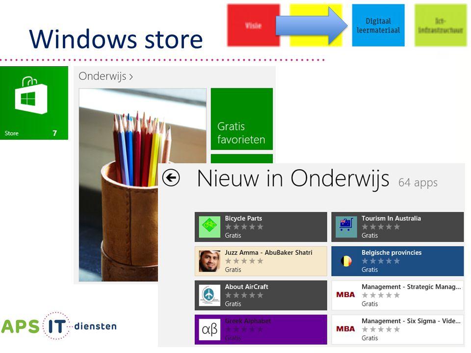 | 29 | Windows store