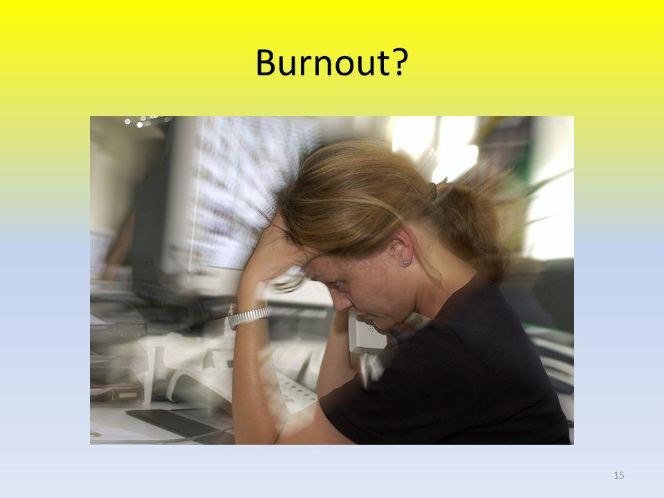 Burnout? 15