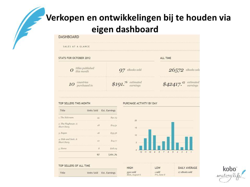 Verkopen en ontwikkelingen bij te houden via eigen dashboard