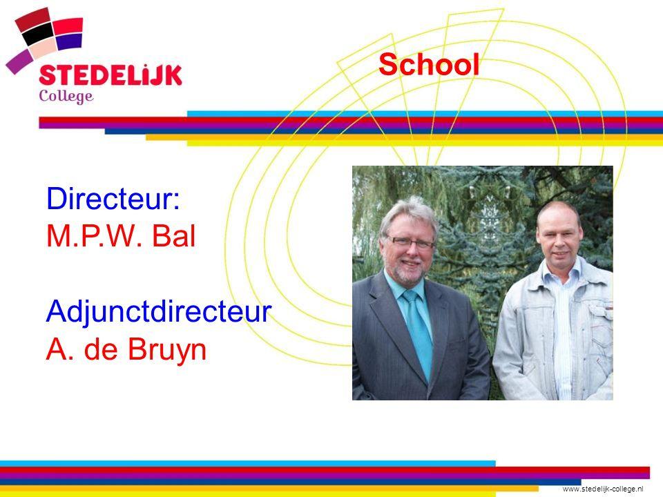 www.stedelijk-college.nl Directeur: M.P.W. Bal Adjunctdirecteur A. de Bruyn School