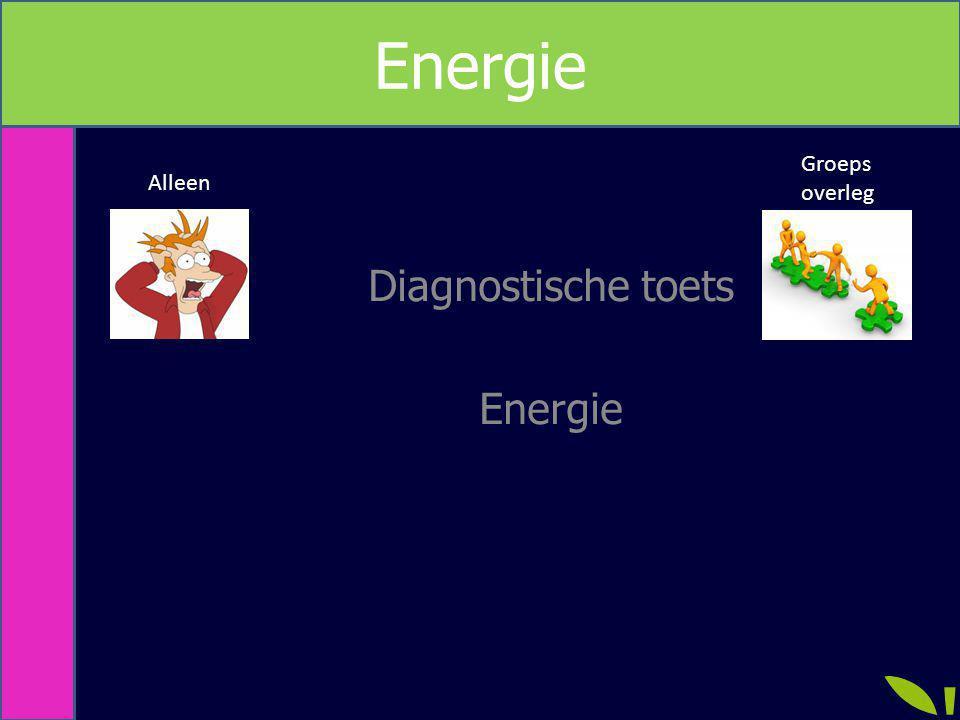 Diagnostische toets Energie Alleen Groeps overleg