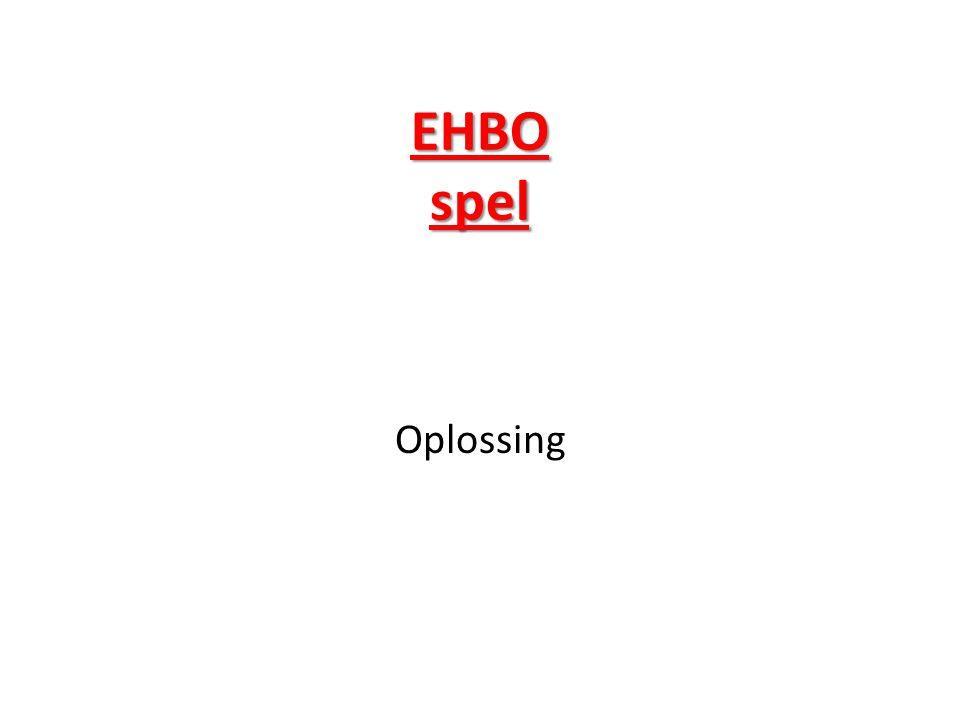 EHBO spel Oplossing