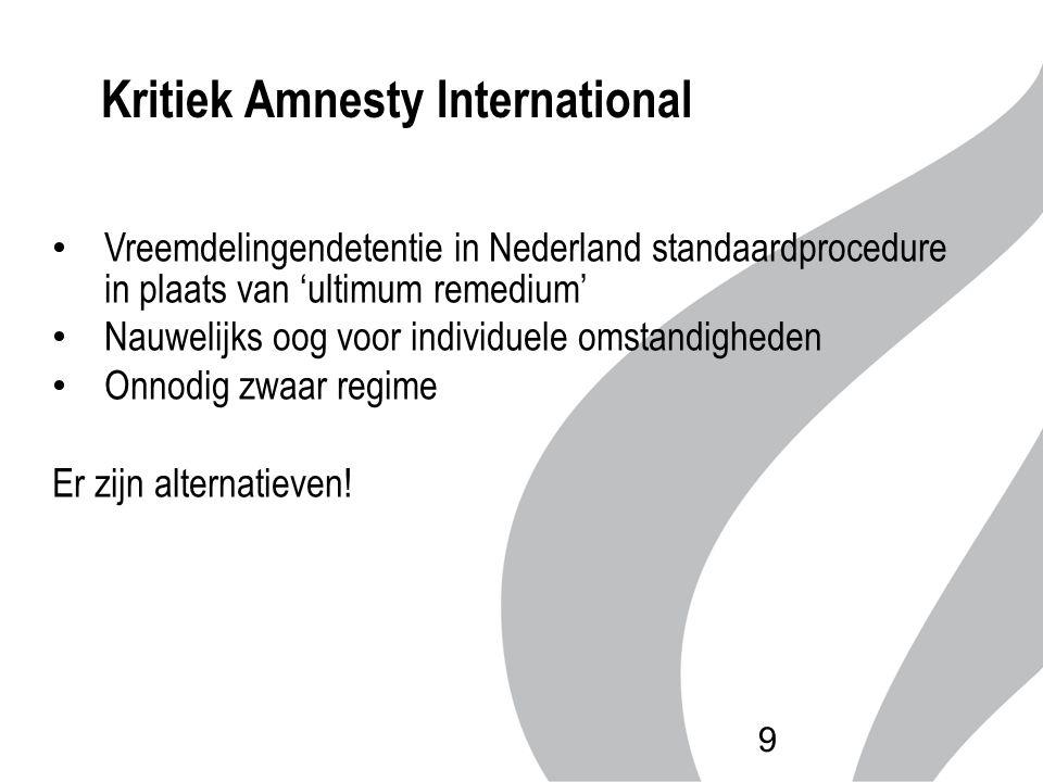 Vreemdelingendetentie in Nederland standaardprocedure in plaats van 'ultimum remedium' Nauwelijks oog voor individuele omstandigheden Onnodig zwaar re