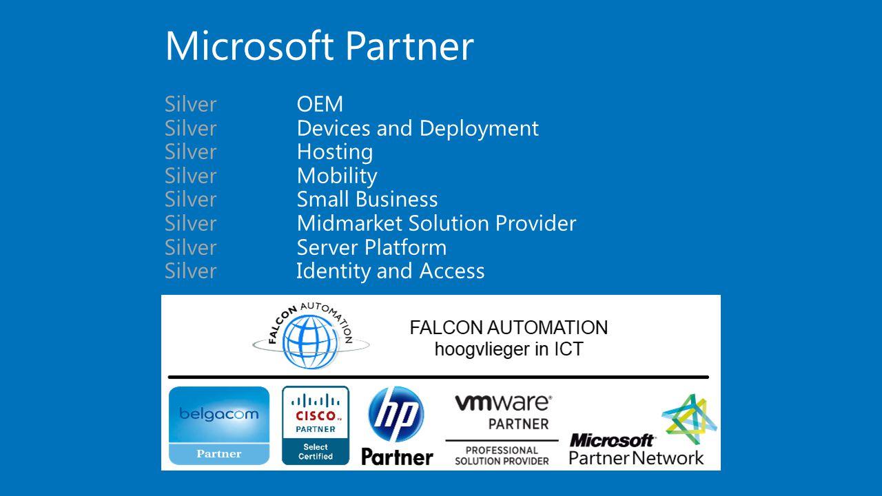 Microsoft Partner SilverOEM SilverDevices and Deployment SilverHosting SilverMobility SilverSmall Business SilverMidmarket Solution Provider SilverSer