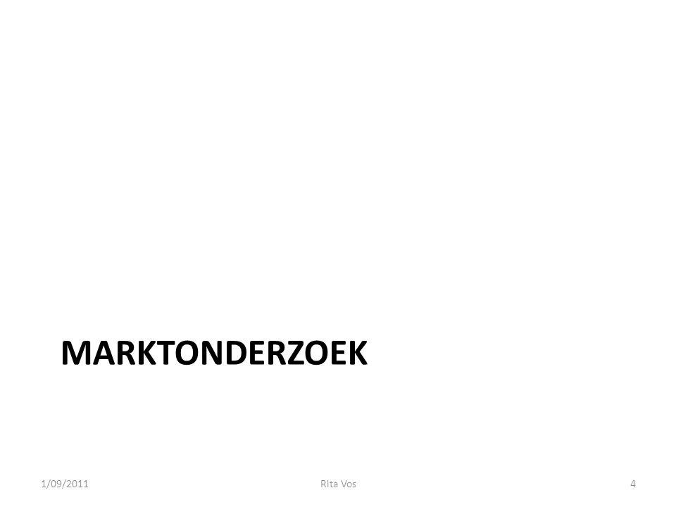 MARKTONDERZOEK 1/09/20114Rita Vos
