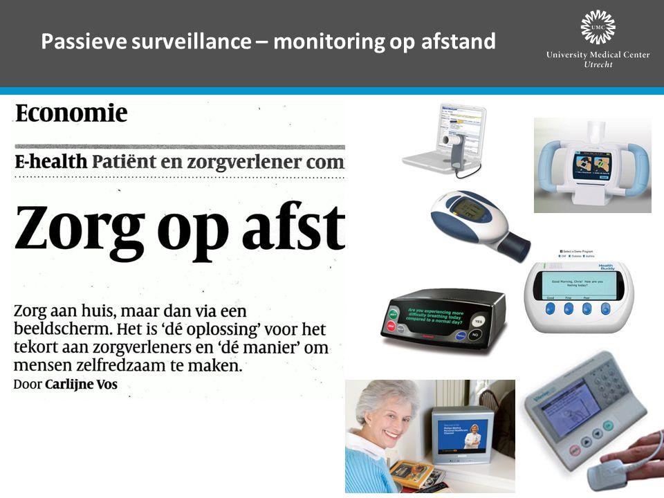Passieve surveillance – monitoring op afstand