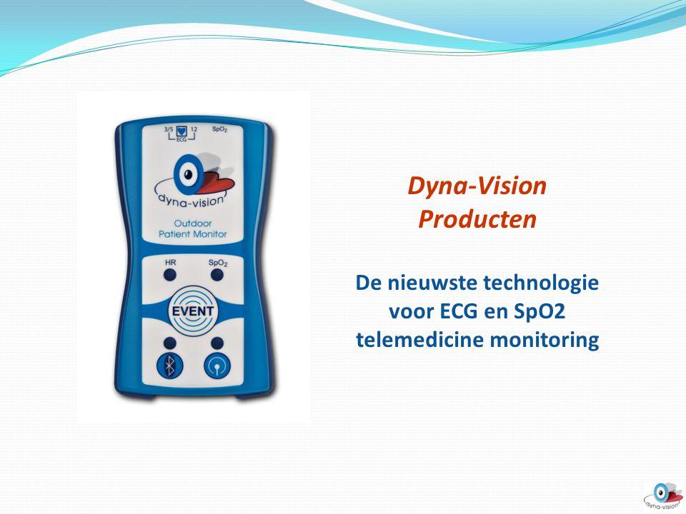 Dyna-Vision Research Dit pakket bestaat uit: Dyna-Vision Unit DVM-010 ► ECG Kabelset 3 lead ECG kabel USB kabel Lader Laptop Dyna-Vision Monitoring Software Dyna-Vision Research Software