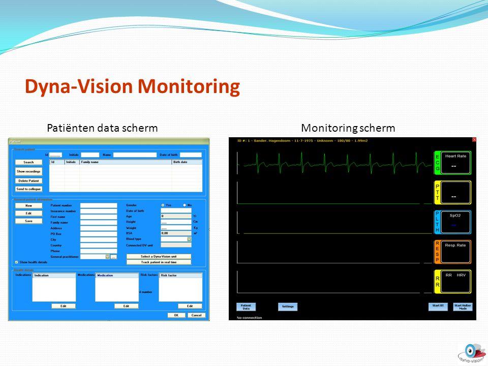 Dyna-Vision Monitoring Patiënten data schermMonitoring scherm