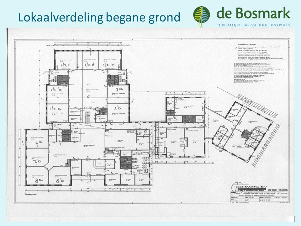Lokaalverdeling verdieping