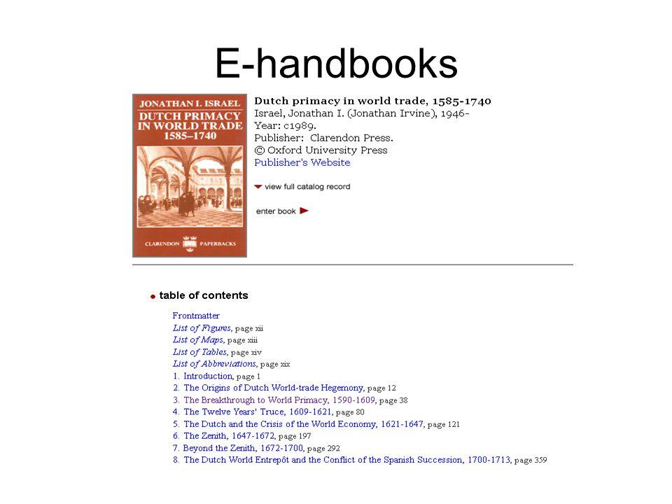 E-handbooks