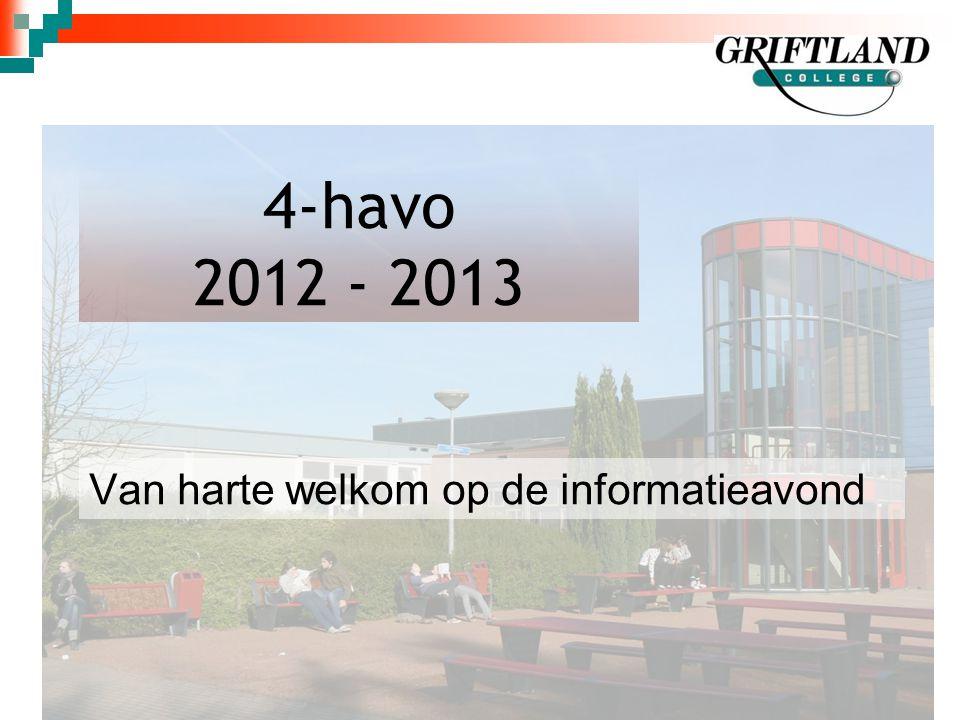 4-havo 2012 - 2013 Van harte welkom op de informatieavond