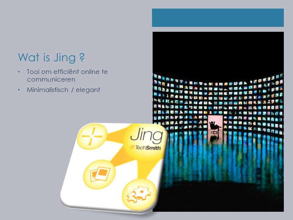 Wat is Jing Tool om efficiënt online te communiceren Minimalistisch / elegant