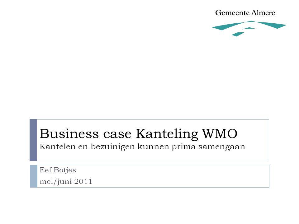 Business case Kanteling WMO Kantelen en bezuinigen kunnen prima samengaan Eef Botjes mei/juni 2011