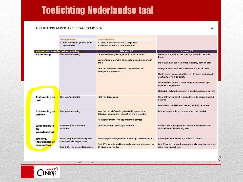 Handreiking bij de standaarden en eindtermen ve Toelichting Nederlandse taal