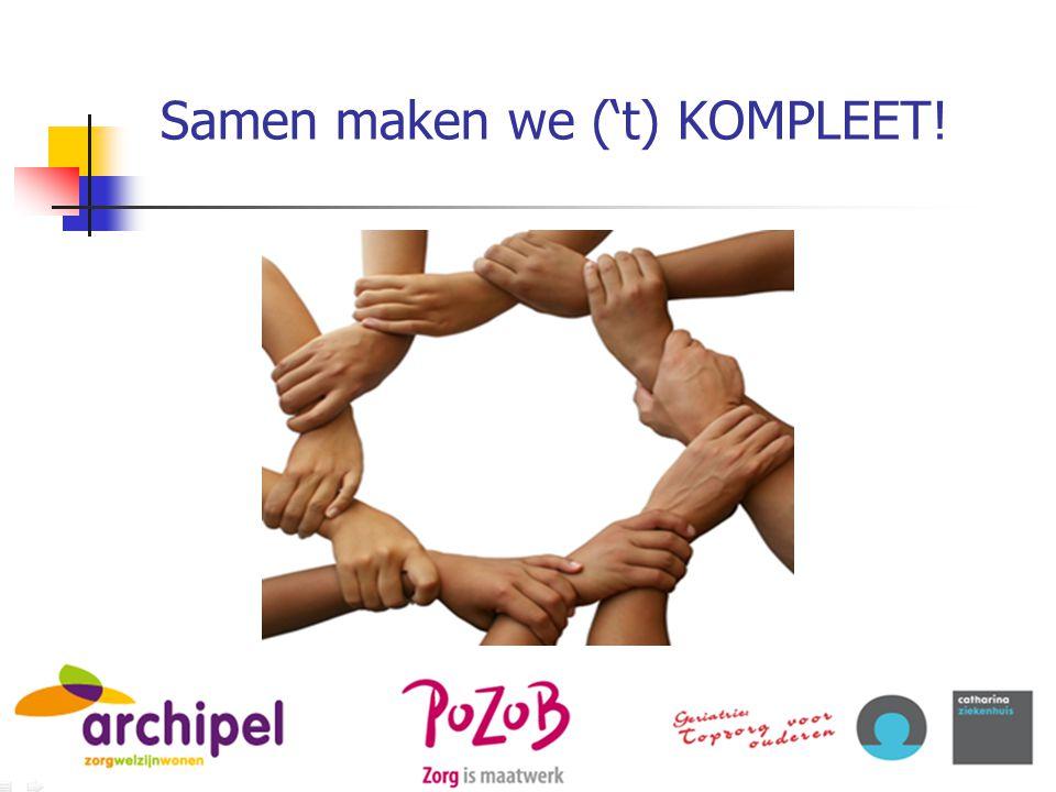 Samen maken we ('t) KOMPLEET!