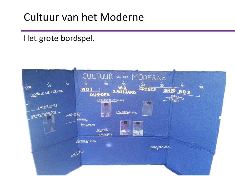 Cultuur van het Moderne Het grote bordspel.