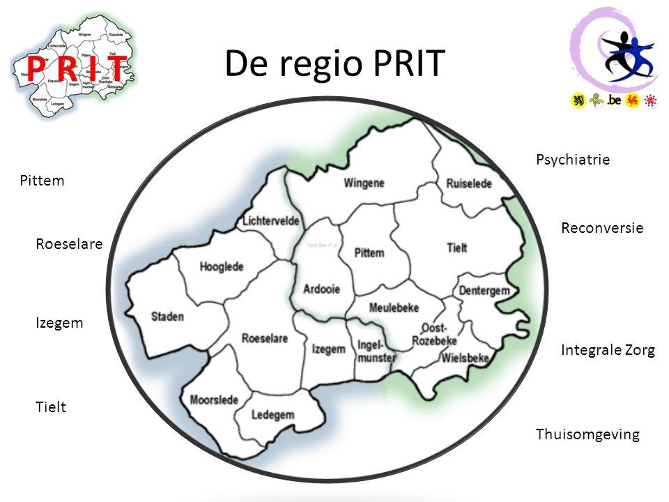 De regio PRIT Pittem Roeselare Izegem Tielt Psychiatrie Reconversie Integrale Zorg Thuisomgeving