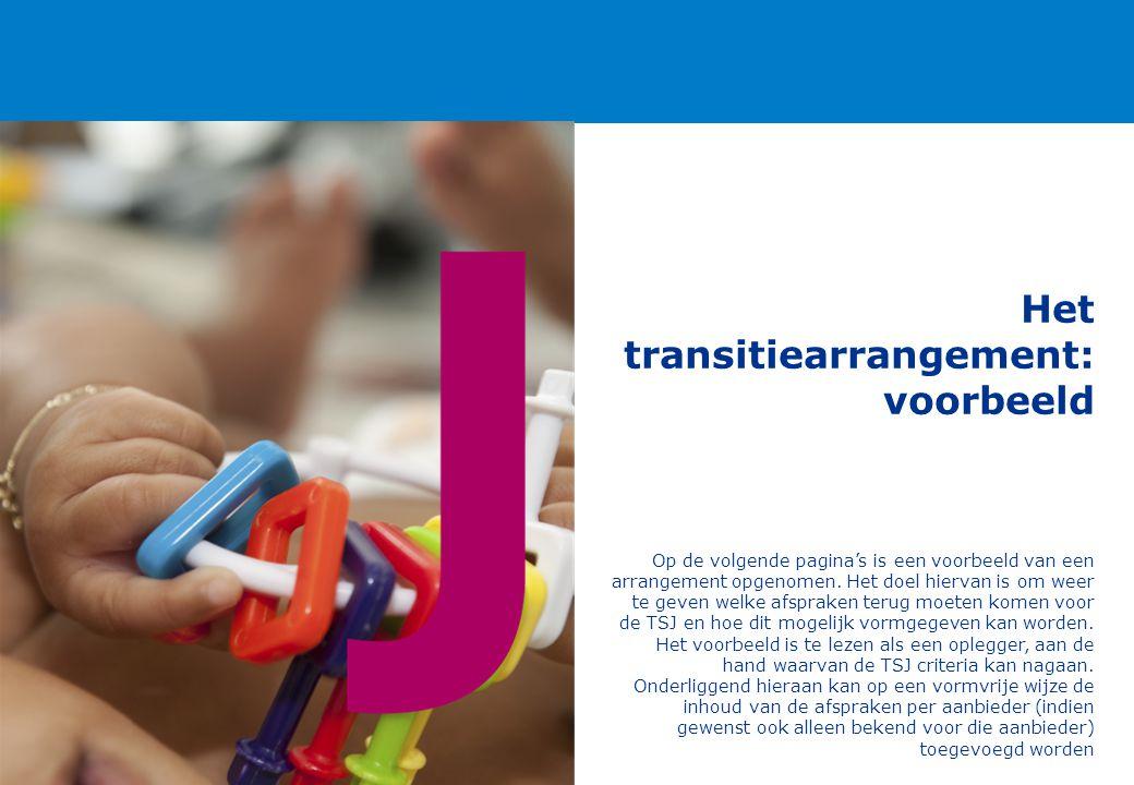 Het transitiearrangement: voorbeeld Op de volgende pagina's is een voorbeeld van een arrangement opgenomen. Het doel hiervan is om weer te geven welke