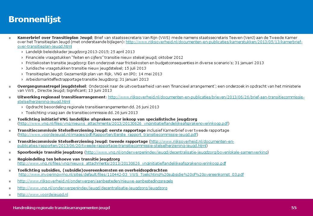 55 ■ Kamerbrief over Transitieplan Jeugd; Brief van staatssecretaris Van Rijn (VWS) mede namens staatssecretaris Teeven (VenJ) aan de Tweede Kamer ove