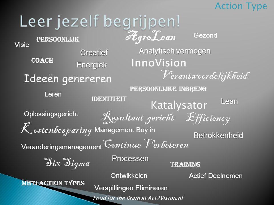 Energiek InnoVision Creatief AgroLean Coach Processen Continue Verbeteren Resultaat gericht Veranderingsmanagement Oplossingsgericht Kostenbesparing E