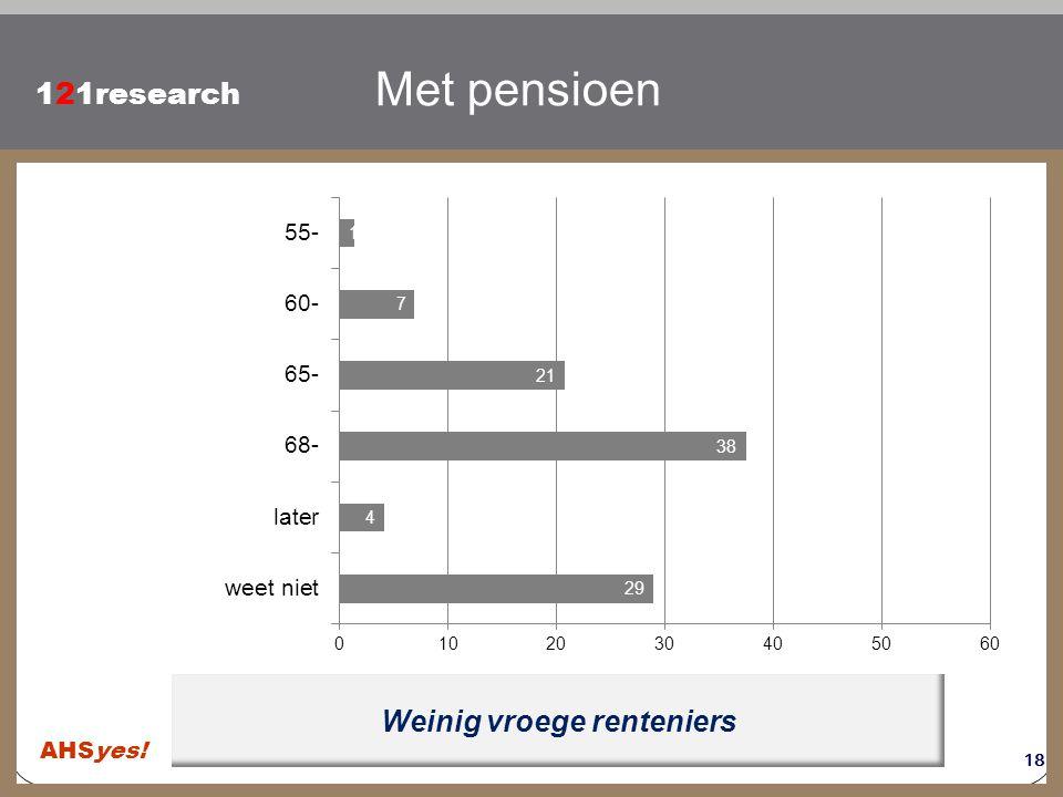 Klik om de stijl te bewerken 121research Weinig vroege renteniers Met pensioen 18 AHSyes!