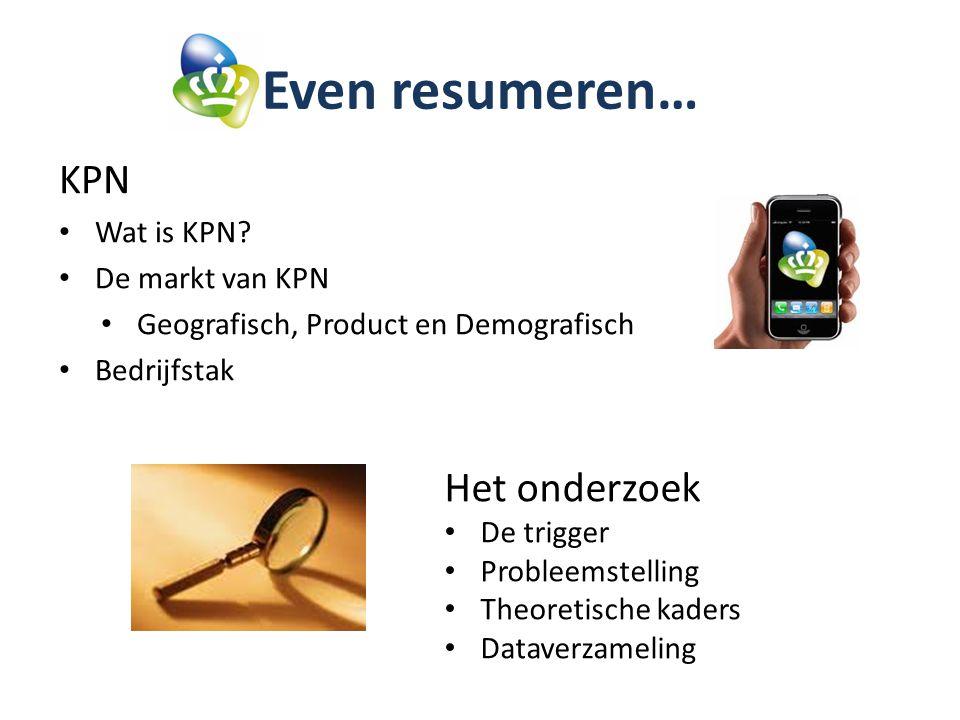Even resumeren… KPN Wat is KPN.