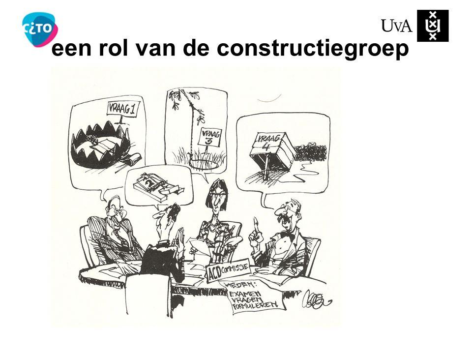 een rol van de constructiegroep
