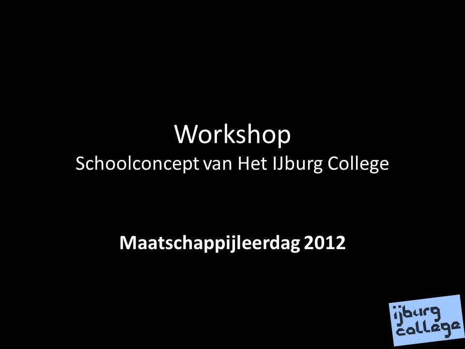 Workshop Schoolconcept van Het IJburg College Maatschappijleerdag 2012