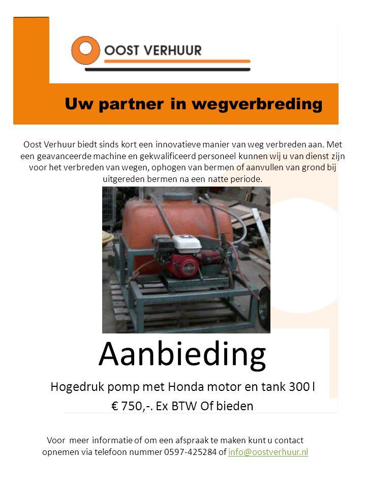 Uw partner in wegverbreding Oost Verhuur biedt sinds kort een innovatieve manier van weg verbreden aan. Met een geavanceerde machine en gekwalificeerd