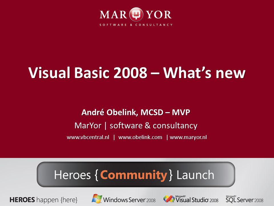 Me.About.ToString() MarYor | software & consultancy MarYor | software & consultancy Auteur van artikelen en boeken..