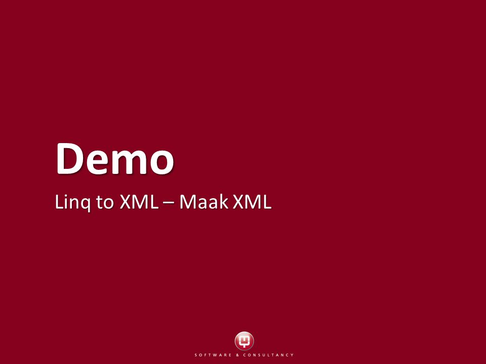 Demo Linq to XML – Maak XML