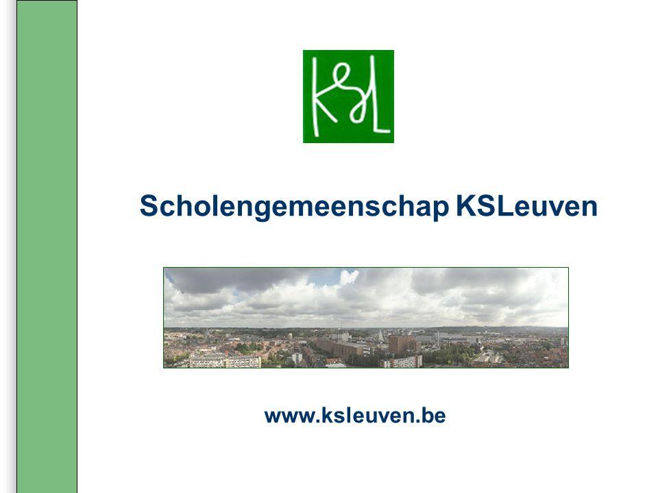 Scholengemeenschap KSLeuven www.ksleuven.be