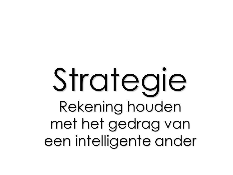 Strategie Rekening houden met het gedrag van een intelligente ander