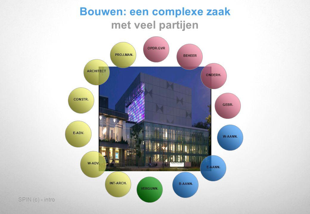 SPIN (c) - intro Bouwen: een complexe zaak met veel informatie GEBR.