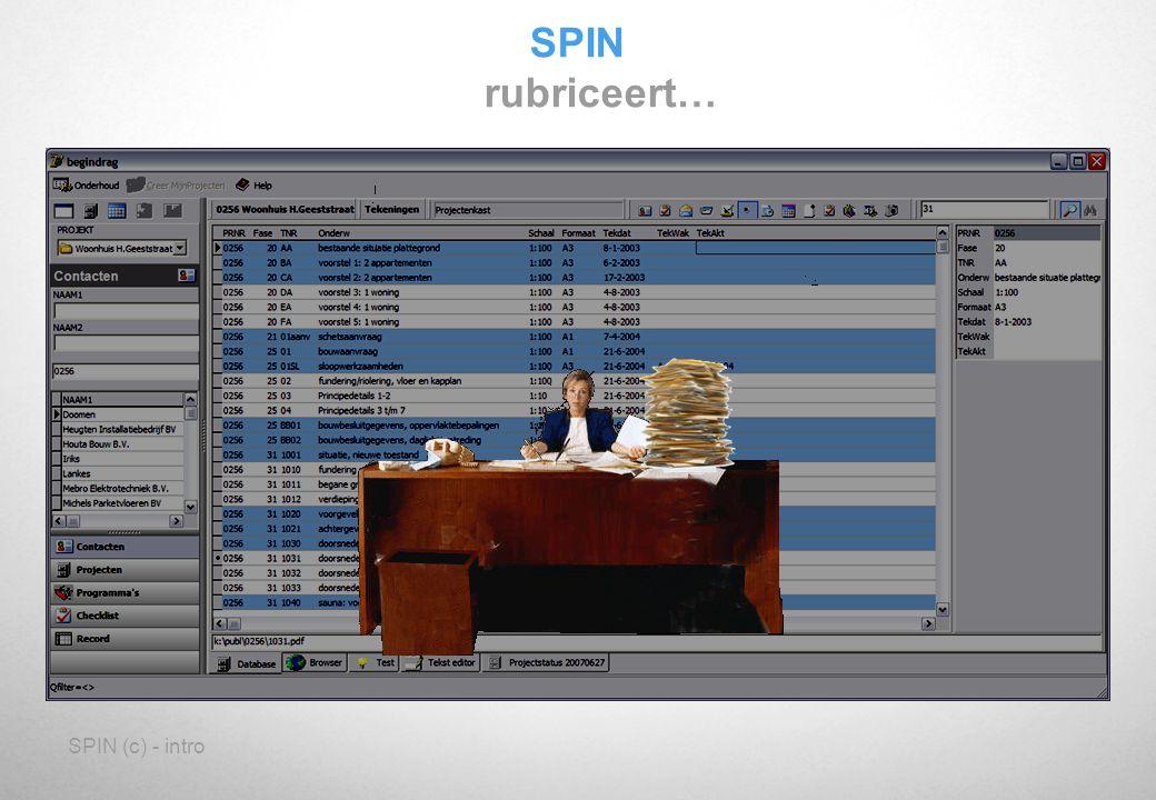 SPIN (c) - intro SPIN werkt projectgeoriënteerd